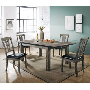 Sanda 5 Piece Wood Dining Set by Union Ru..
