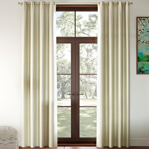 Gainer Basic Solid Blackout Thermal Grommet Curtain Panels (Set of 2)
