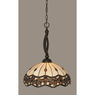Astoria Grand Austinburg Tiffany 1-Light Pendant