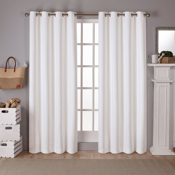 Stanton Sateen Solid Blackout Thermal Grommet Curtain Panels