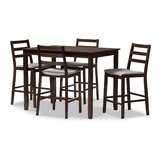 Hester Street 5 Piece Pub Table Set by Charlton Home®