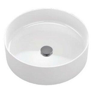 Arvina Vitreous China Circular Vessel Bathroom Sink Toto