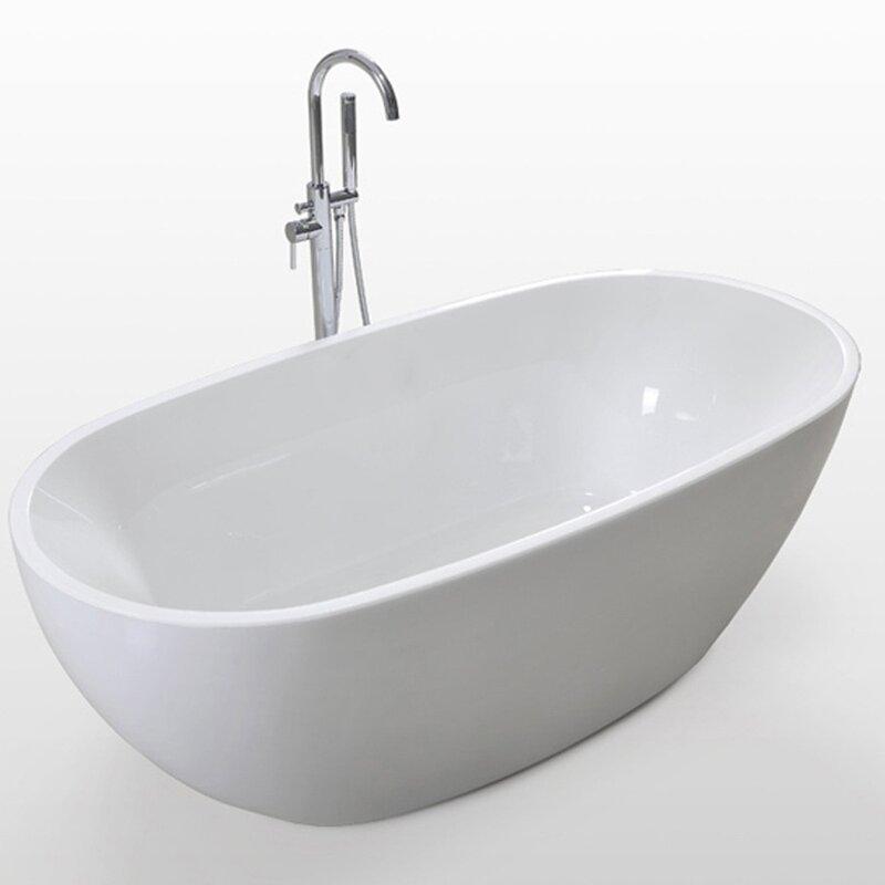 Kdk Home Luxury Acrylic Spa 67 X 31 Freestanding Soaking Bathtub Wayfair