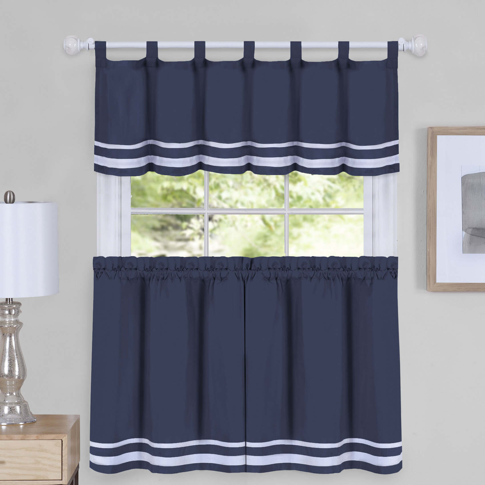 incredible Valance Set Part - 17: August Grove Hornell Window Curtain Tier Pair and Valance Set | Wayfair