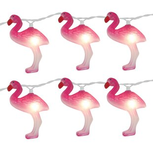 Brite Star 10-Light 11 ft. Flamingo String Lights (Set of 2)
