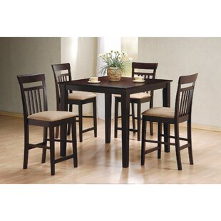 Wagstaff 5 Piece Counter Height Dining Se..