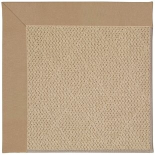 Lisle Machine Tufted Biscuit/Brown Indoor/Outdoor Area Rug