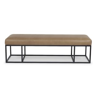 Robin Leather Bench by 17 Stories