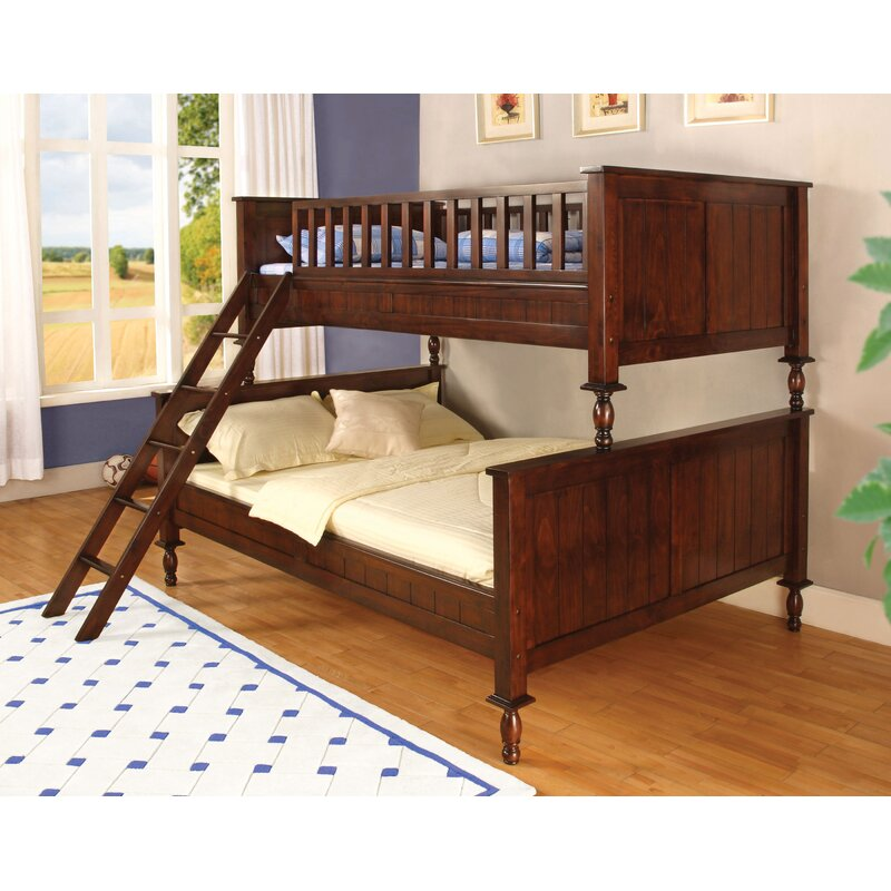 Hokku Designs Milton Twin over Full Futon Bunk Bed Reviews Wayfair