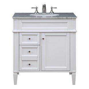Quickview Gray White Antionette 32 Single Bathroom