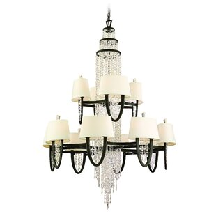 Rosdorf Park Tyrone 24-Light Crystal Chandelier