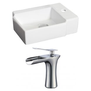 Compare prices Ceramic Rectangular Vessel Bathroom Sink with Faucet By Royal Purple Bath Kitchen