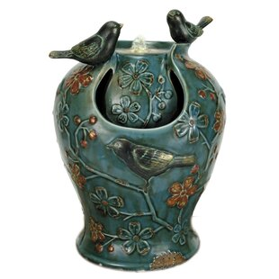 Foreside Home & Garden Verdigris Songbird Fountain