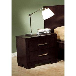 Ebern Designs Hamler 2 Drawer Nightstand