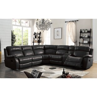 Heffron Leather Reclining Sect..