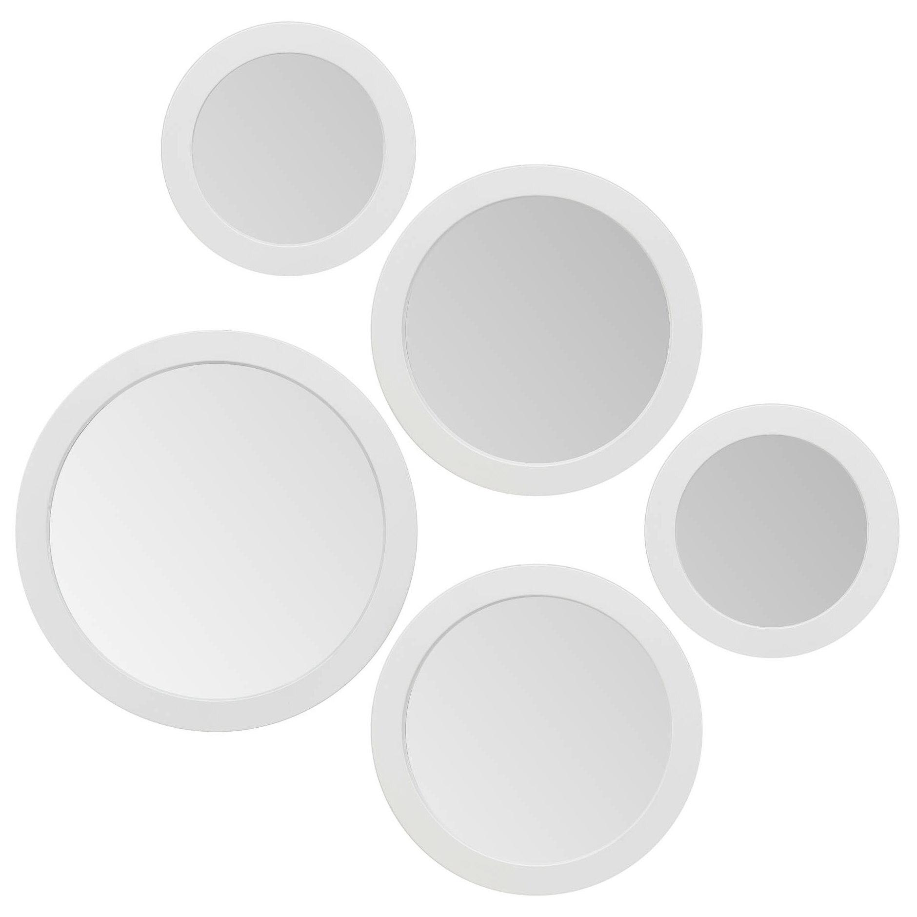 Ebern Designs 5 Piece Akiana Round Modern Contemporary Accent Mirror Set Reviews Wayfair Ca