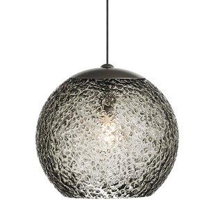 Mackin Round 1-Light Globe Pendant by Ivy Bronx