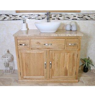 Thaddeus Solid Oak 1000mm Free-Standing Vanity Unit By Belfry Bathroom