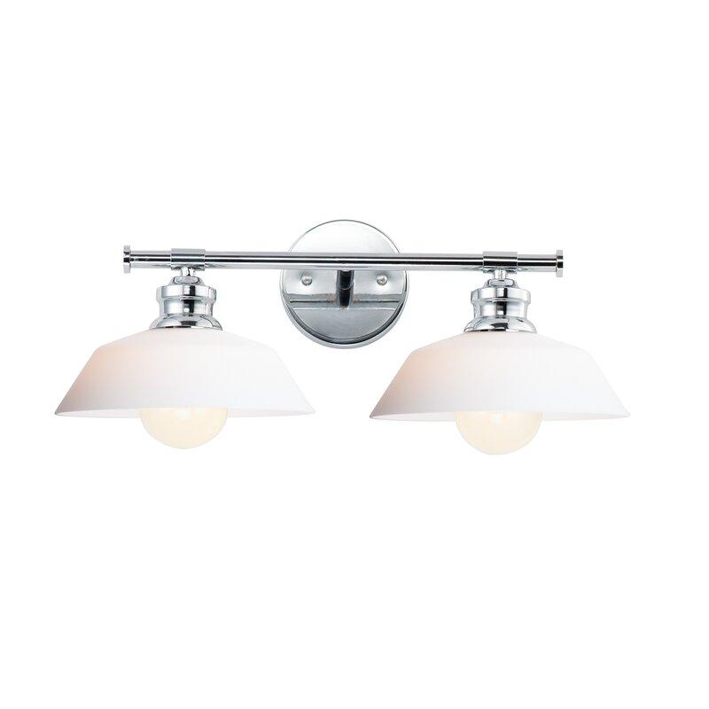 Latitude Run Luling 2 Light Dimmable Polished Chrome Vanity Light Wayfair