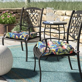 Flamingoing Lagoon Reversible Indoor Outdoor Dining Chair Cushion Set Of 2