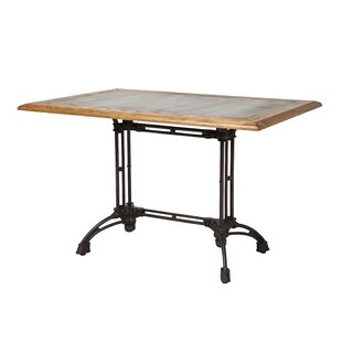 Colyer Reclaimed Oak Industrial Dining Table 17 Stories