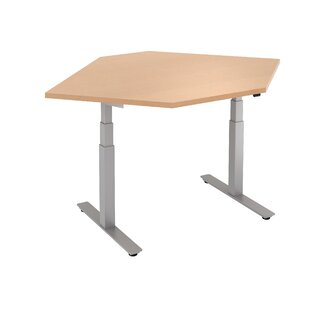 Straight Corner Height Adjustable Standing Desk by Trendway Amazing