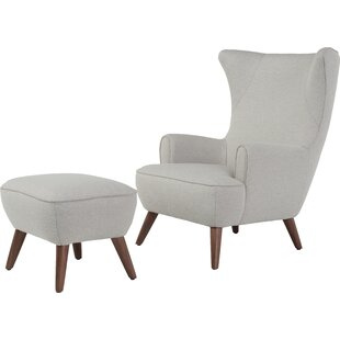 Ruby High Back Wingback Chair And Ottoman