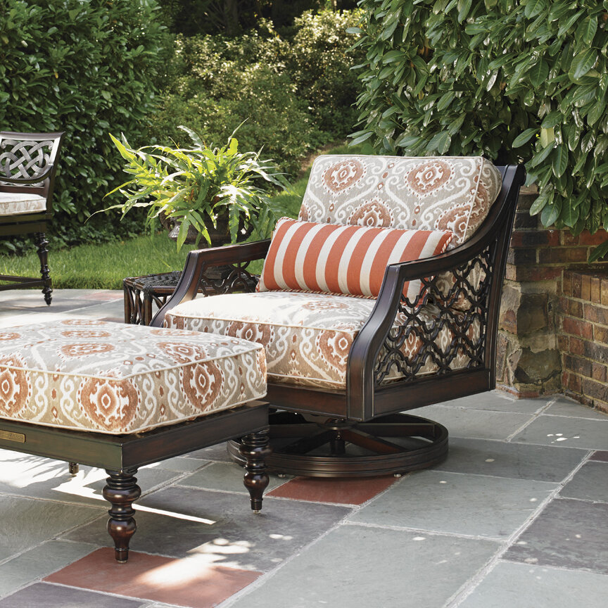 Tommy Bahama Outdoor Sands Swivel Rocker Patio Chair With Cushion Wayfair