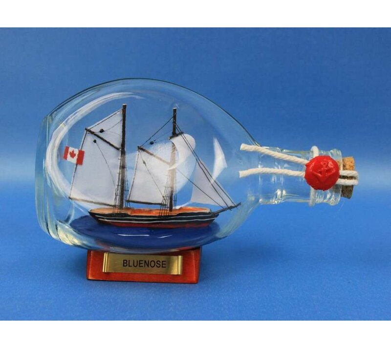 Bluenose Sail Model Ship in a Bottle