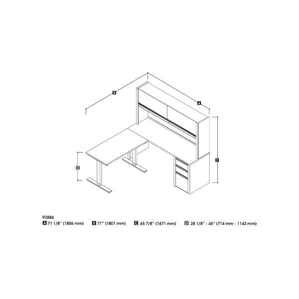 Orren Ellis Aurea 3 Piece Office Set With Hutch Wayfair