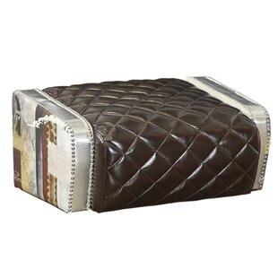 Marielle Leather Tufted Ottoman