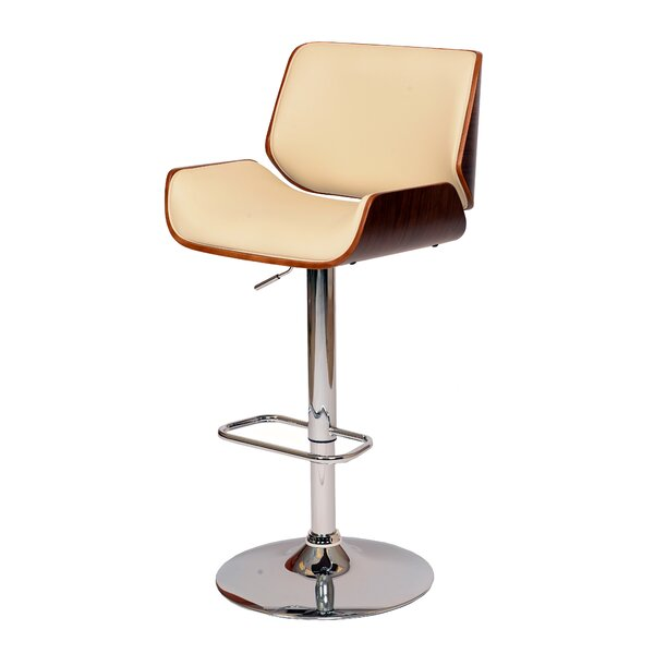 Corrigan Studio Gulfport Biloxi Adjustable Height Swivel Bar Stool U0026  Reviews   Wayfair