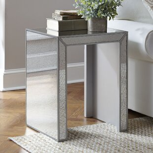 Dicha Mirrored Side Table