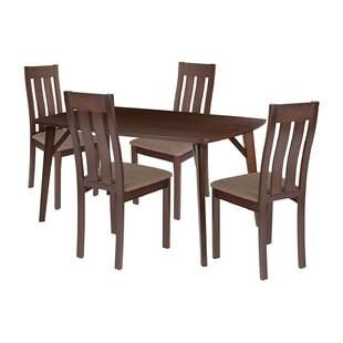 Casimir 5 Piece Solid Wood Dining Set by Ebern Designs