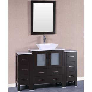 54 Single Bathroom Vanity Set with Mirror by Bosconi