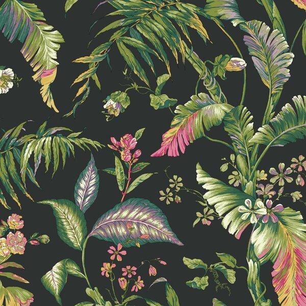 "York Wallcoverings Ashford Tropics Fiji Garden 27' X 27"" Floral And Botanical Wallpaper Roll & Reviews by York Wallcoverings"