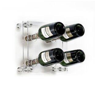 Maxey 4 Bottle Wall Mounted Wine Rack By Ebern Designs