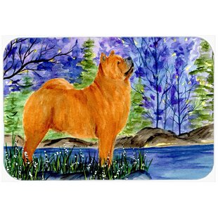 Chow Chow on Riverside Glass Cutting Board