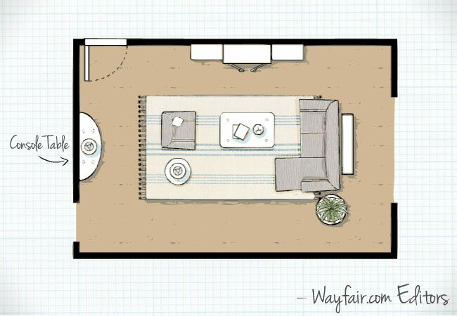 this layout differs from the first two because it features a sectional sofa sectional sofas provide lots of seating and are popular with families - Living Room Floor Plans