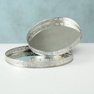 Barton 2 Piece Serving Tray Set By World Menagerie