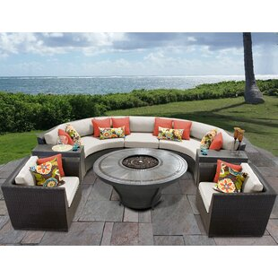 Barbados 8 Piece Sectional Seating Group with Cushions