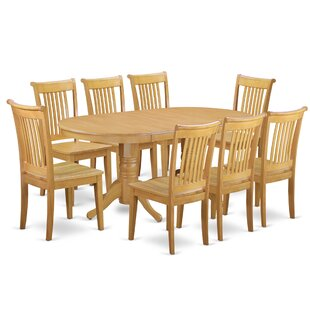 Daniella 9 Piece Extendable Solid Wood Dining Set