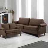 Apperson 2 Piece Standard Living Room Set by Red Barrel Studio®