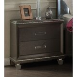Sanabria 2 - Drawer Nightstand in Dark Champagne by Everly Quinn