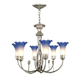 Berens Art Glass 6-Light Shaded Chandelier by Canora Grey