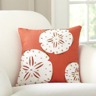 Minatare Sand Dollar Repeat Beaded Pillow Cover