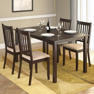 Lazaro 5 Piece Solid Wood Dining Set by Millwood Pines