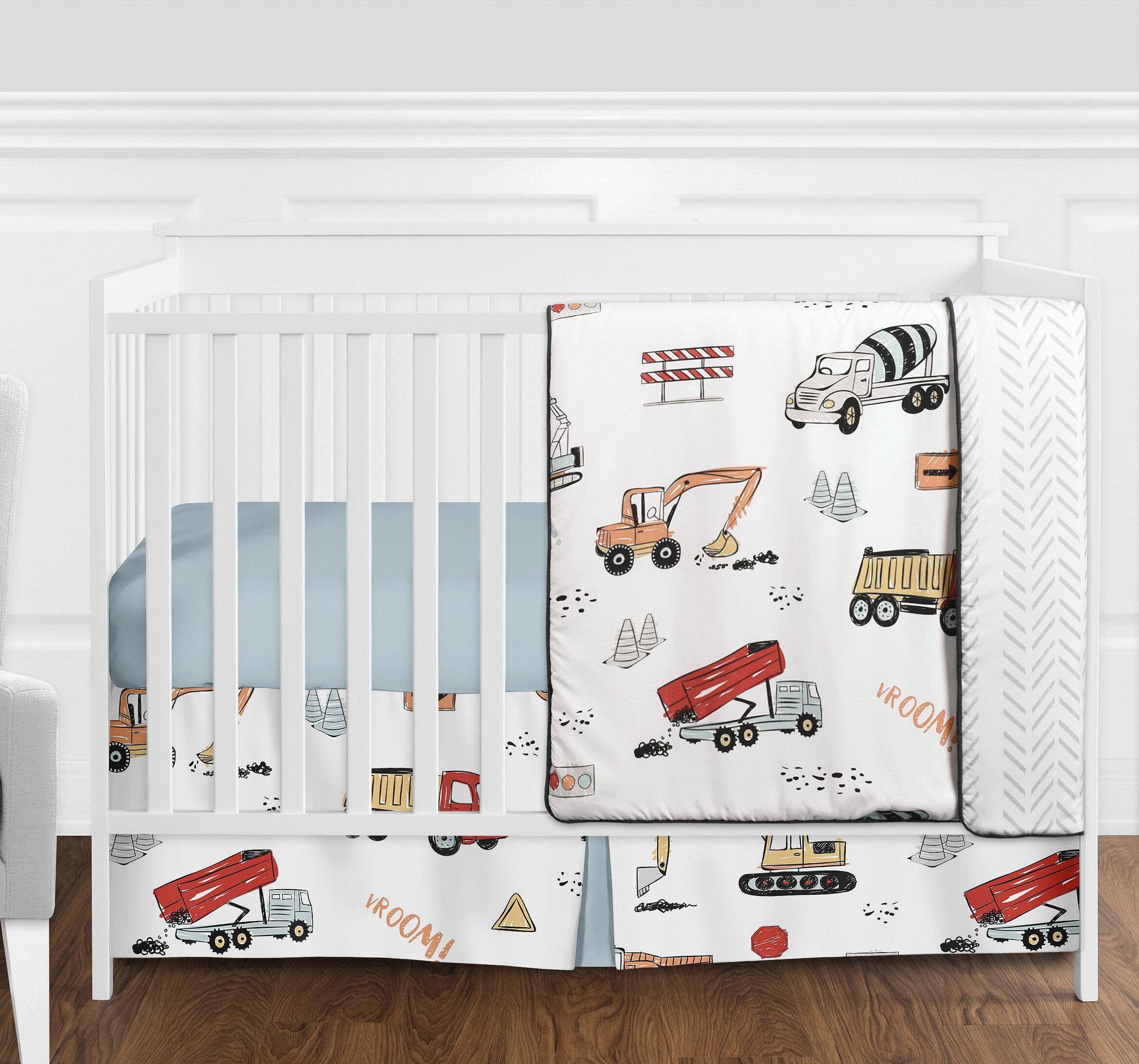 Dino Dinosaur Blue Crib Bedding Set Sheet 6PC Comforter Bumper Baby Shower Gift