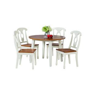 Dinh 5 Piece Drop Leaf Solid Wood Dining Set by Latitude Run Purchase