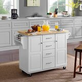 Mireya Kitchen Cart by Charlton Home®